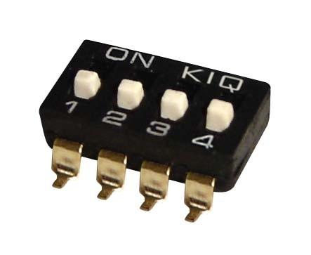 DIP Switch IC SMD x4 Czarny l=42szt