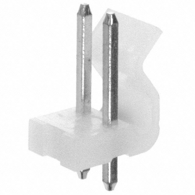 Wtyk do druku prosty 2 PIN r.3.96mm opak=100 szt