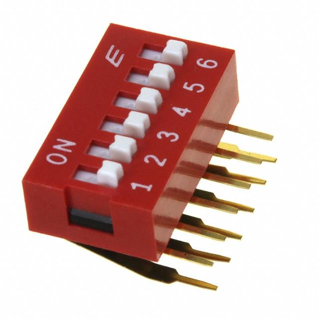 DIP Switch kątowy x6 Czerwony l=28szt