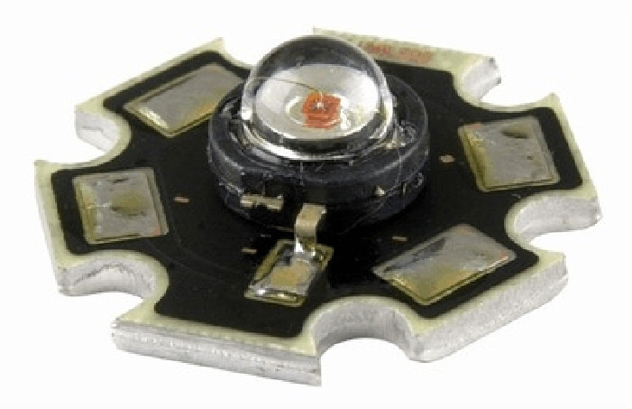 Dioda LED 3W star (płytka/radiator) Zielona