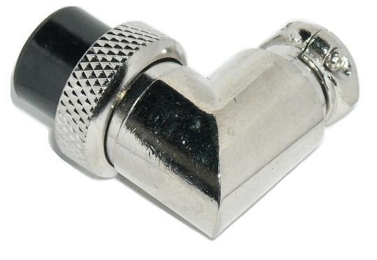 Wtyk mikrofonowy NC/CB kątowy 2 PIN