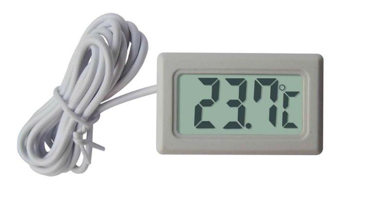 Panelowy termometr LCD od -50°C do 100°C biały