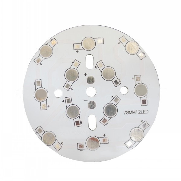 Płytka aluminiowa/radiator 12 LED d=78mm