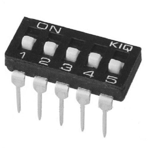 DIP Switch IC x5 Czarny l=35szt