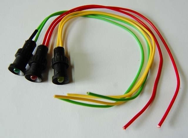 Kontrolka LED 5mm 12V DC biała migajaca