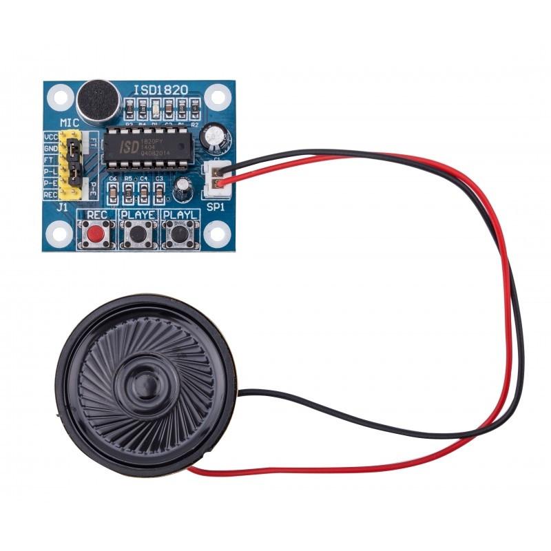 Moduł rejestratora audio z głośnikiem
