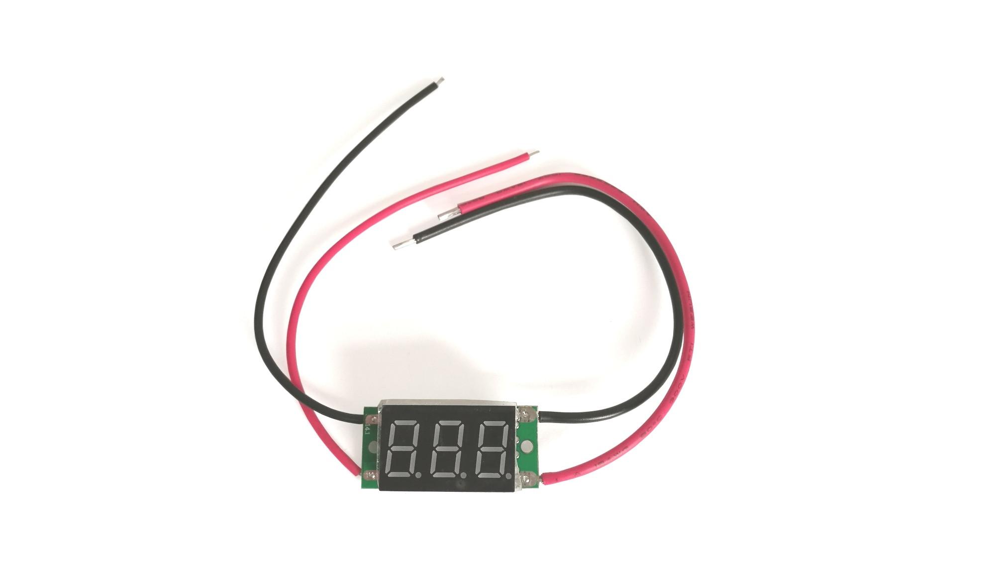 Amperomierz LED 12V 10A Żółty