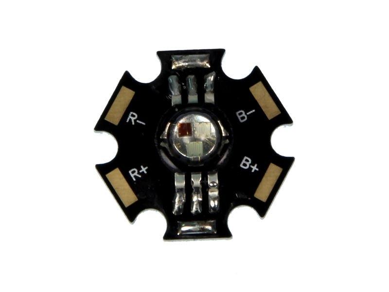 Dioda LED 1W star (płytka/radiator) RGB