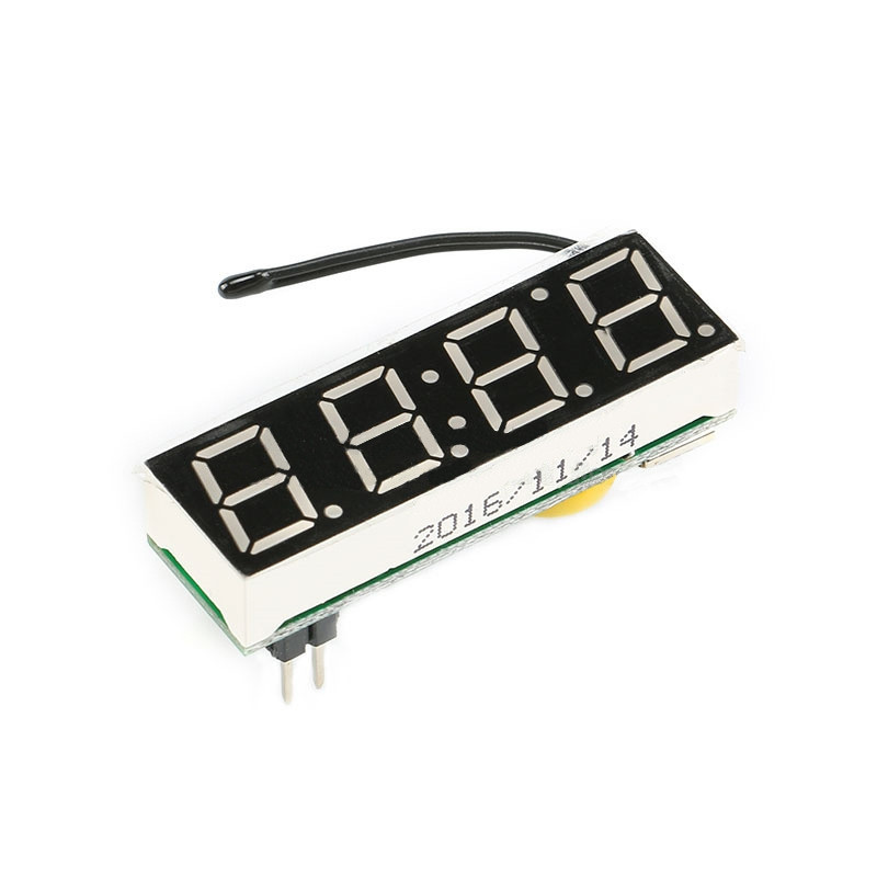 Zegar LED 4.5-15V z termometrem oraz woltomierzem, wyświetlacz niebieski