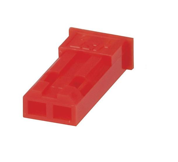 Obudowa gniazda na kabel JST (czerwone) 2 PIN r.2.50mm opak=100 szt