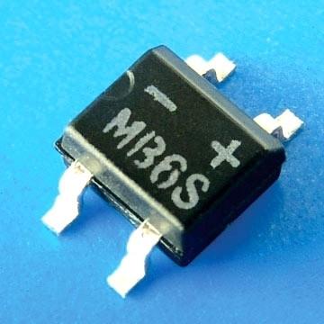 Mostek prostowniczy SMD MB10S 0,5A 1000V R=2.6mm