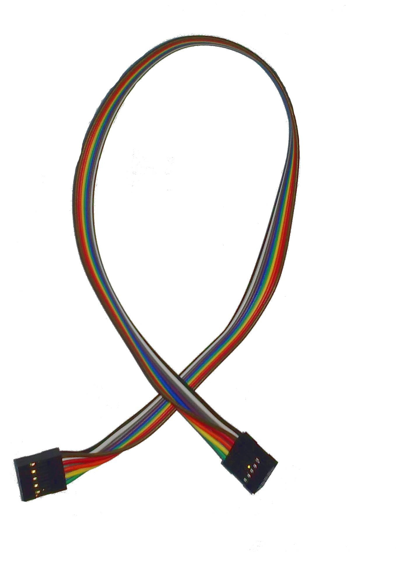 Kabel taśma żeński 2x5PIN x 2 l=40cm