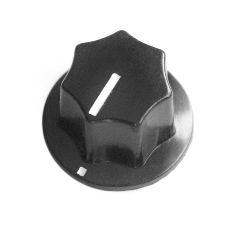 Gałka potencjometru plastikowa czarna GPS19 19mm