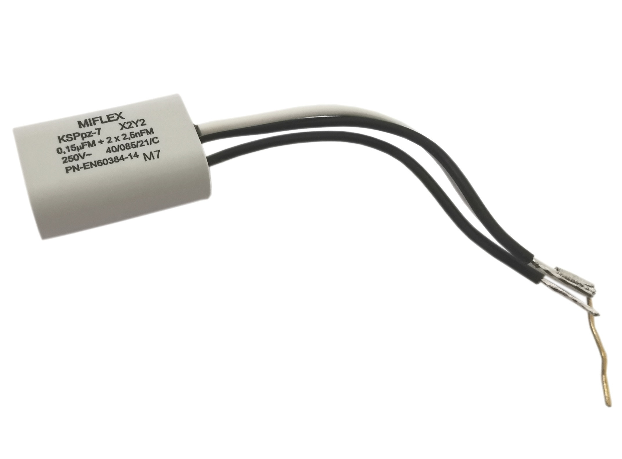 Kondensator przeciwzakłóceniowy 0.15uF + 2*2.5nF 250V KSPPZ-7