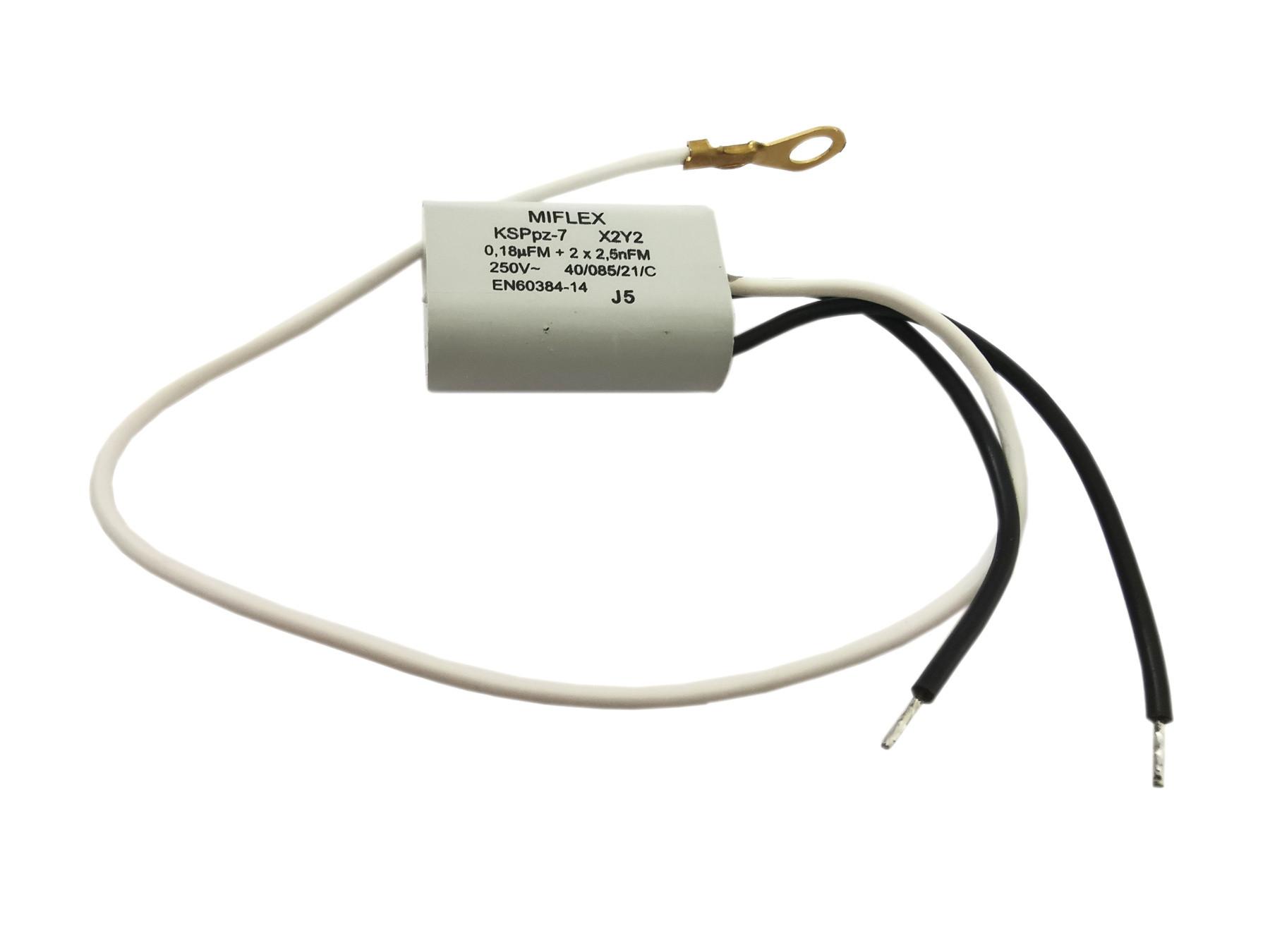 Kondensator przeciwzakłóceniowy 0.18uF + 2*2.5nF 250V KSPPZ-7