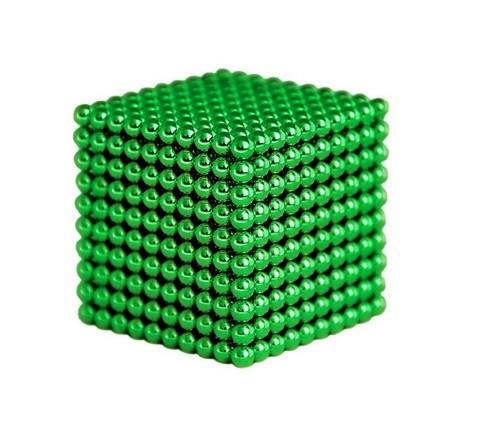 """Magnes neodymowy kulka średnica 5mm """"NEOCUBE"""" zielony"""