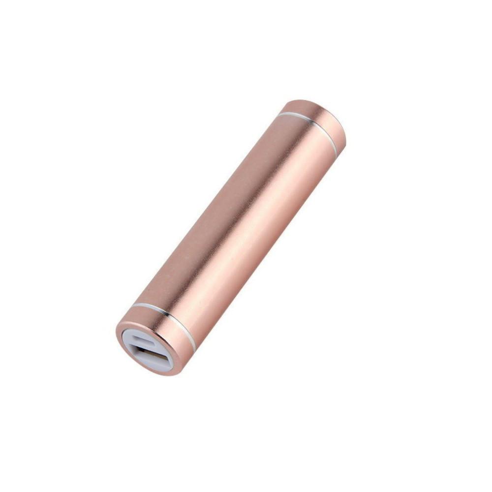 Obudowa powerbank na 1 akumulator 18650 (USB 5V 1A) pudrowy róż