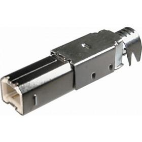 Wtyk USB typu B montowny na kabel