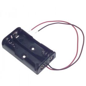 Koszyk na 2 baterie typu AA (1.5V) czarny