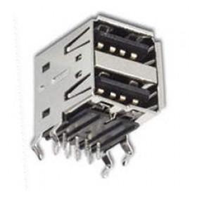 Gniazdo USB typu A x2 (podwójne) do druku Czarne