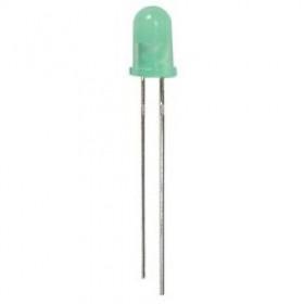 Dioda LED 5mm Zielona, migająca matowa opak=100 szt