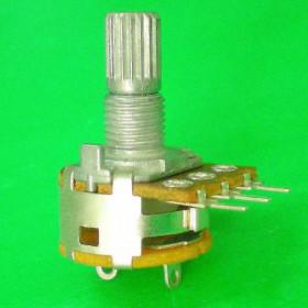 Potencjometr obrotowy 500K Ohm B (liniowy) z wyłącznikiem l=15mm