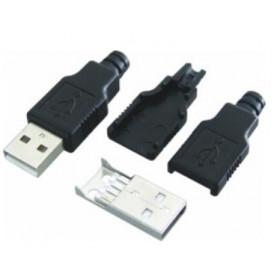 Wtyk USB typu A na kabel z osłoną