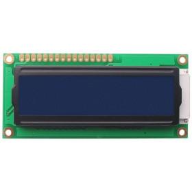 Wyświetlacz LCD 2x16 80x36mm niebieskie podświetlenie