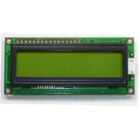 Wyświetlacz LCD 2x16 80x36mm zielone podświetlenie