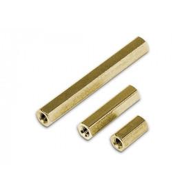 10mm Mosiężne z gwintem M4 W/W opak=100 szt