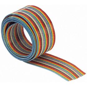 Taśma IDC AWG28 14 żył R=30.5m kolorowa