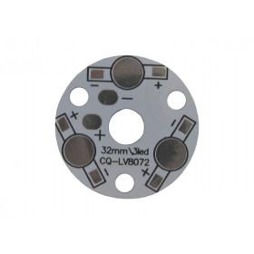 Płytka aluminiowa/radiator 3 LED d=32mm