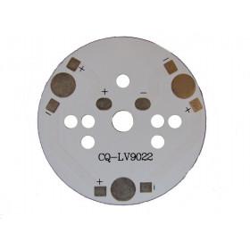 Płytka aluminiowa/radiator 3 LED d=49mm