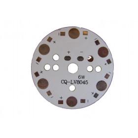 Płytka aluminiowa/radiator 6 LED d=49mm