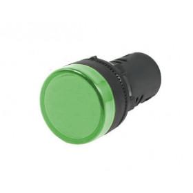Kontrolka LED 28mm 12V AC/DC zielona