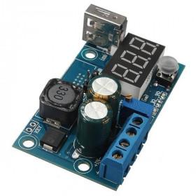 Przetwornica napięcia XL2596 z wyświetlaczem i USB