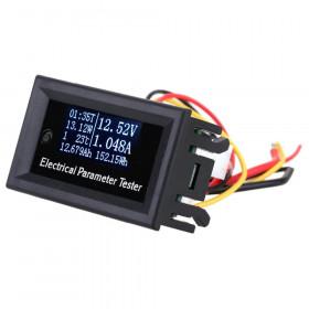 Panelowy miernik parametrów elektrycznych OLED 10A/100V