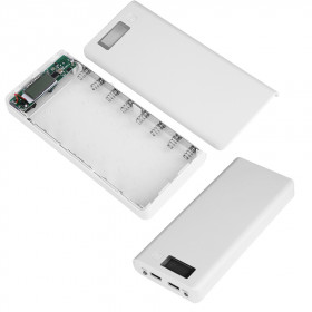 Obudowa powerbank na 8 akumulatorów 18650 z LCD (2x USB 5V 1A oraz 5V 2A)
