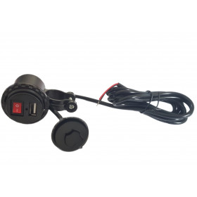 Ładowarka motocyklowa USB 5V 2.1 z wyłącznikiem