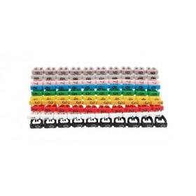 Zestaw 100szt oznaczników numerycznych do kabli 0-9 2mm2