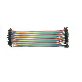 Zestaw 40szt kabli połączeniowych żeńsko-żeńskie