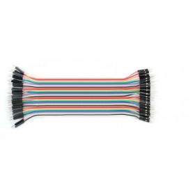 Zestaw 40szt kabli połączeniowych męsko-męskie (piny złocone)