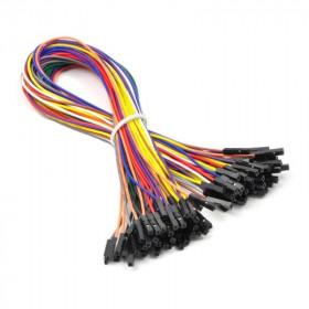 Zestaw 50szt kabli połączeniowych żeńsko-żeński 20cm