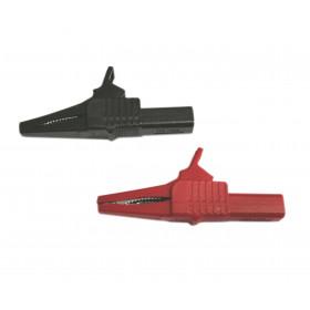 Krokodylek izolowany czerwony l=85mm