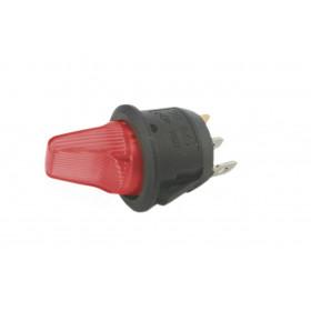 Przełącznik hebelkowy KCD1-101R czerwony ON-OFF 6A/250V podświetlenie 230V