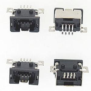 Gniazdo mini USB typu A do montażu SMD 4pin Czarne