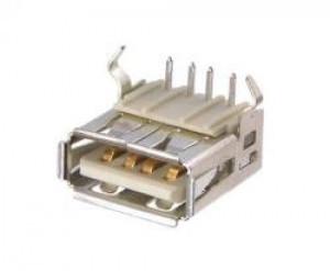 Gniazdo USB typu A do druku Białe