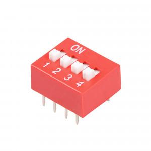 DIP Switch x4 Czerwony l=41szt