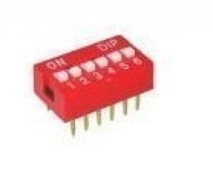 DIP Switch x6 Czerwony l=28szt