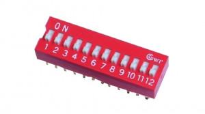 DIP Switch x12 Czerwony l=14szt
